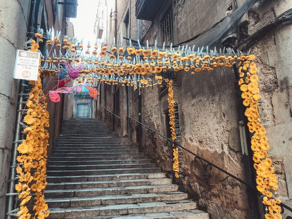 Temps de Flors Girona Blumenfest Blumenfestival Deko