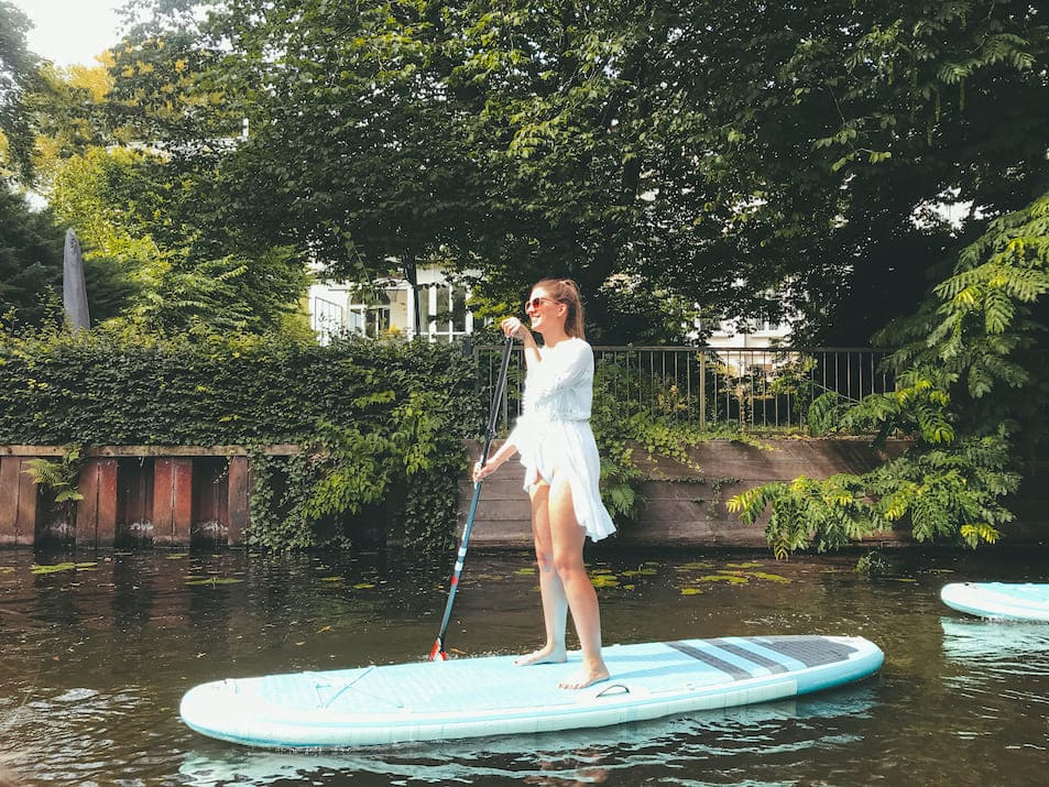 Alster SUP Stand-Up-Paddling Supper Club Travelprincess